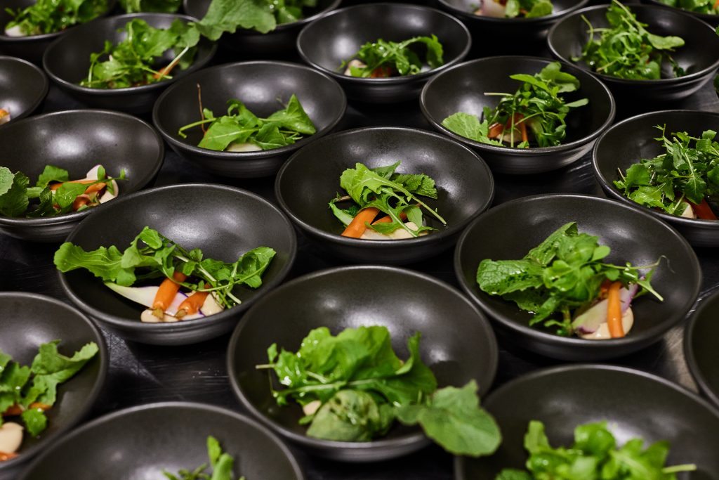 Dishes made from our onsite organic gardens